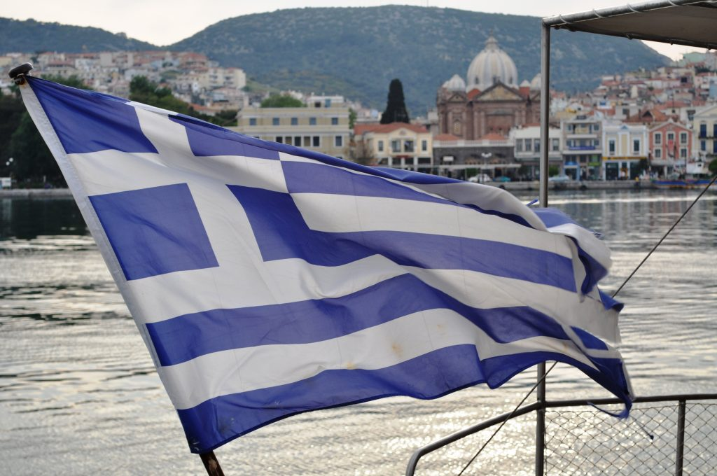 Midilli Yunan Bayrağı
