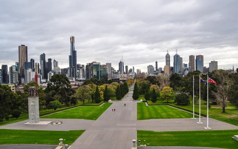 Melbourne-Sehir-Manzarasi