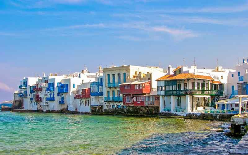 Mykonos adası
