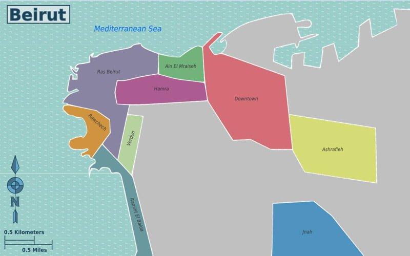 Beyrut-Sehir-Haritasi